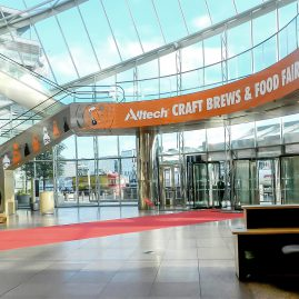 CCD foyer branding at Craft Brews & Food Fair