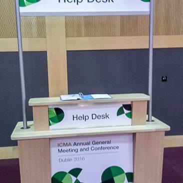 CCD help desk branding at ICMA 2016
