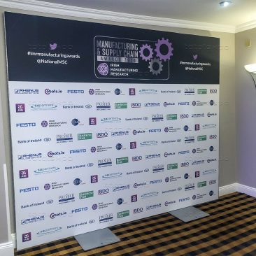 Awards backdrop at Manufacturing Expo 2020