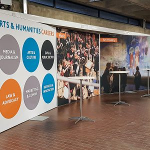 Backdrop at UCD Arts and Humanities Staff Open Evening 2019