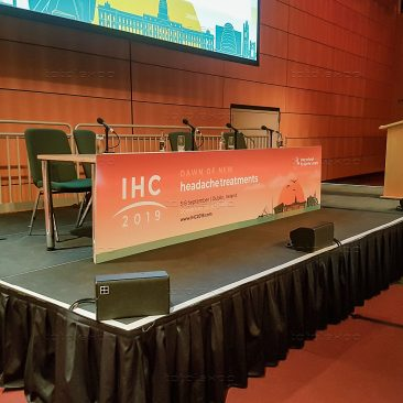 Branded table fronts at IHC 2019