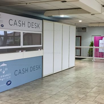 Cash desk at Pregnancy & Baby Fair October 2019