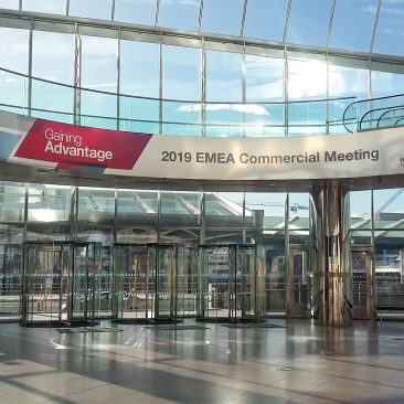 Escalator branding at EMEA Commercial Meeting by Thermofisher 2019