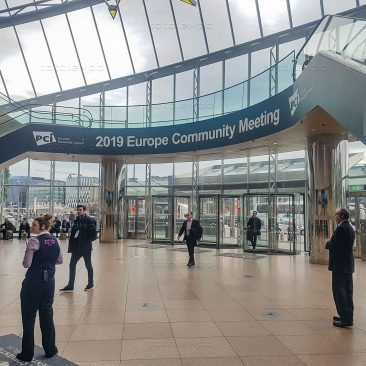 Escalator branding at PCI Security Congress 2019