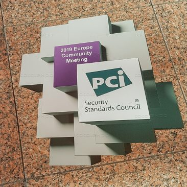 Floor sticker at PCI Security Congress 2019