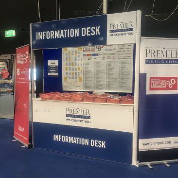 Information Desk at Northern Ireland Manufacturing Expo 2020
