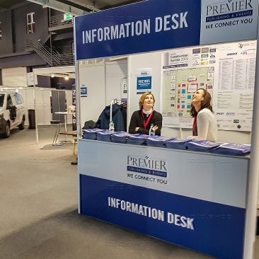 Information desk at Construction Summit 2019