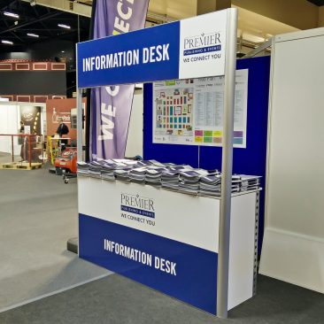 Information desk at Food & Drink 2017