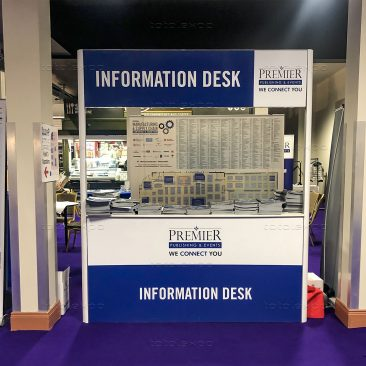 Information desk at Manufacturing Expo 2020