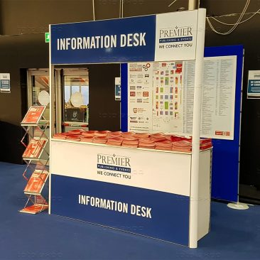 Information desk at Northern Ireland Manufacturing Expo 2019