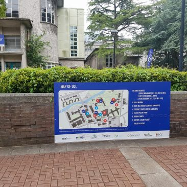 Outdoor signage at Wind Energy Science Conference 2019