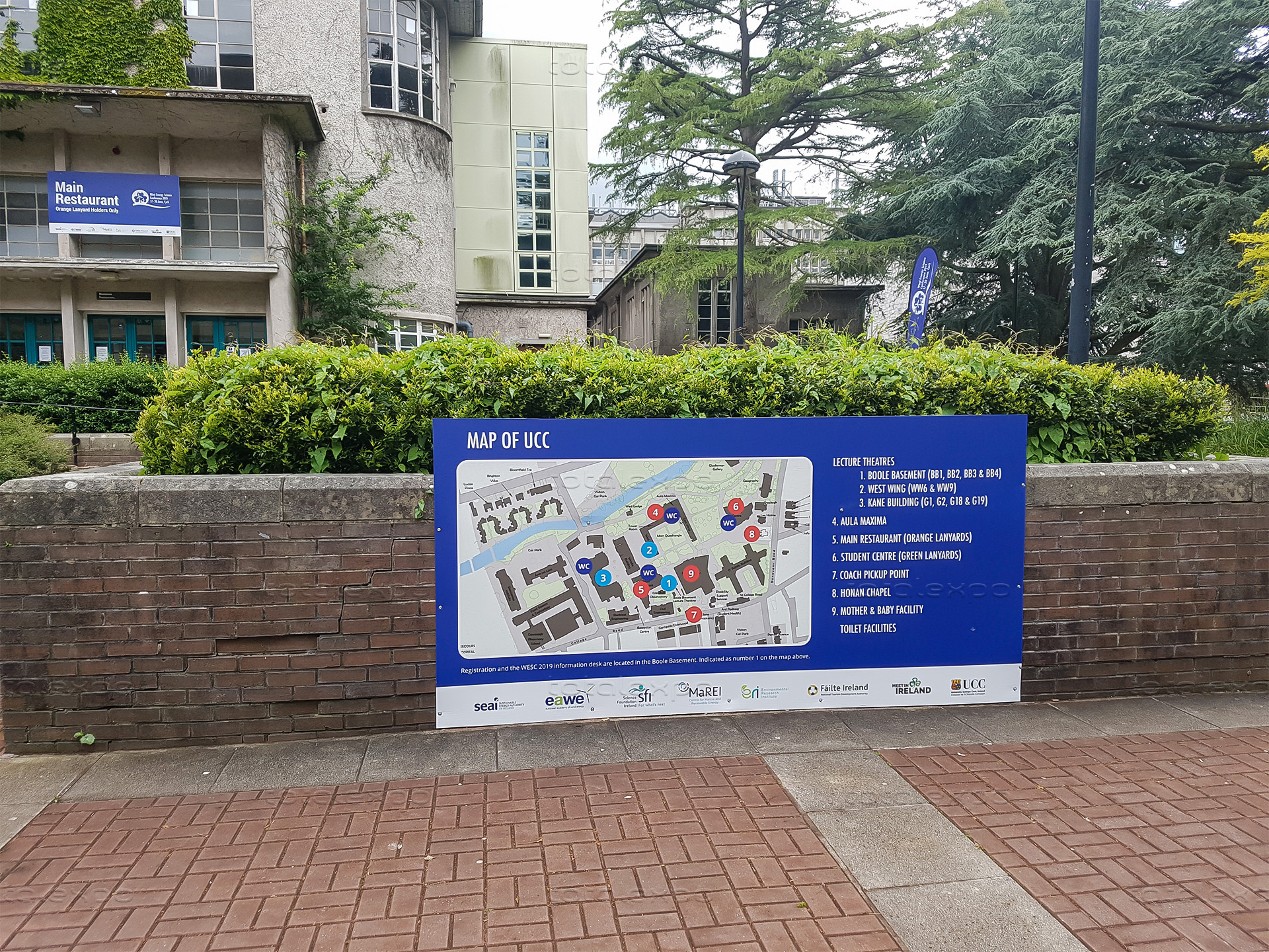 Outdoor signage at Wind Energy Science Conference 2019 - Total Expo