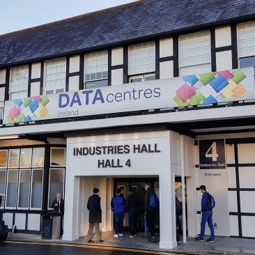RDS entrance branding at Datacentres 2017