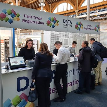Registration Desk at Datacentres 2017