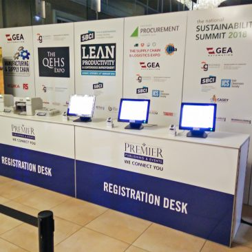 Registration Desk at Manufacturing Expo 2018