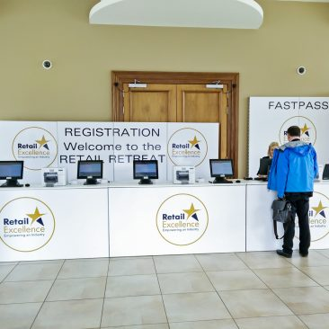 Registration Desk at Retail Retreat 2018