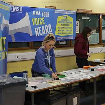 Registration at Maynooth Polling Day May 2019