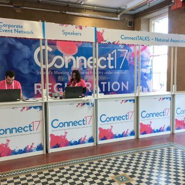 Registration desk at Connect17