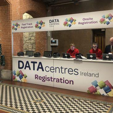 Registration desk at Datacentres 2019