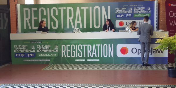 Registration desk at FTE 2018