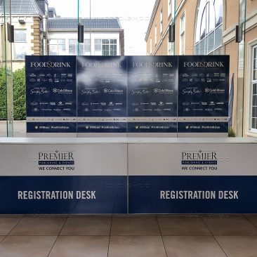 Registration desk at Food & Drink 2019