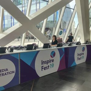 Registration desk at Inspirefest 2019