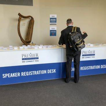 Registration desk at Manufacturing Expo 2019