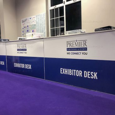 Registration desk at Manufacturing Expo 2020