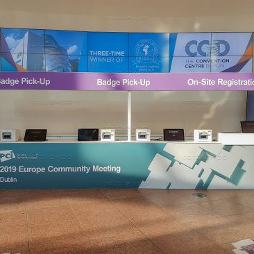 Registration desk at PCI Security Congress 2019