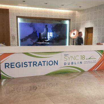 Registration desk at SOTI Sync 2018