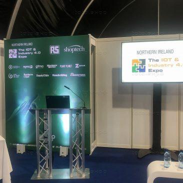 Seminar Backdrop at Northern Ireland Manufacturing Expo 2020