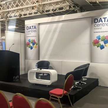 Seminar stage backdrop at Datacentres 2019