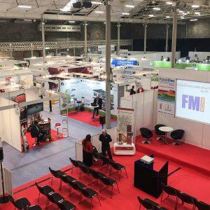 Seminar stage backdrop at FM Ireland 2019