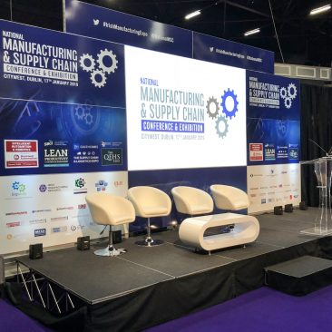 Stage backdrop at Manufacturing Expo 2019