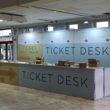 Ticket desk at Pregnancy & Baby Fair October 2019