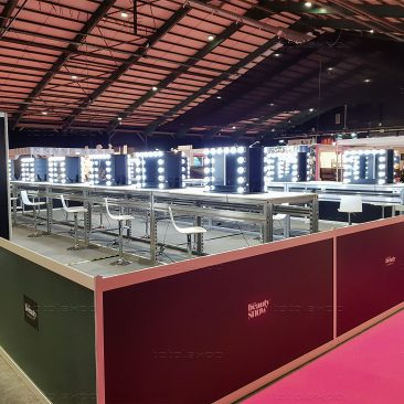 Tournament area (Make-up and body paint) at Irish Beauty Show 2020