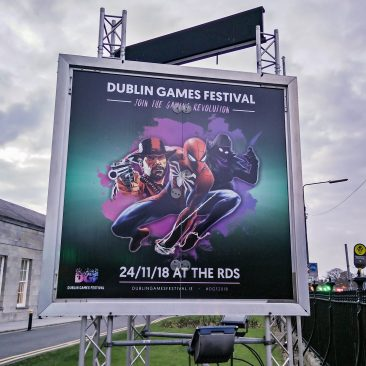 V-sign at Dublin Games Festival 2018
