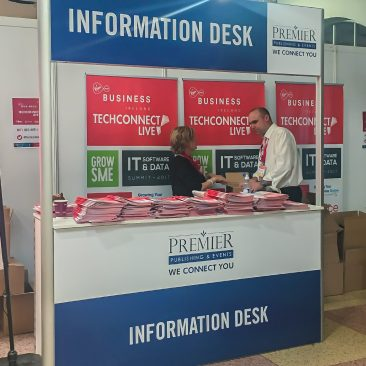 Info desk at Tech Connect 2017, RDS