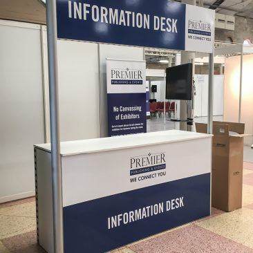 Information desk at Construction Summit 2017