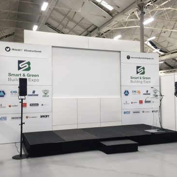Stage branding at Construction Summit 2017